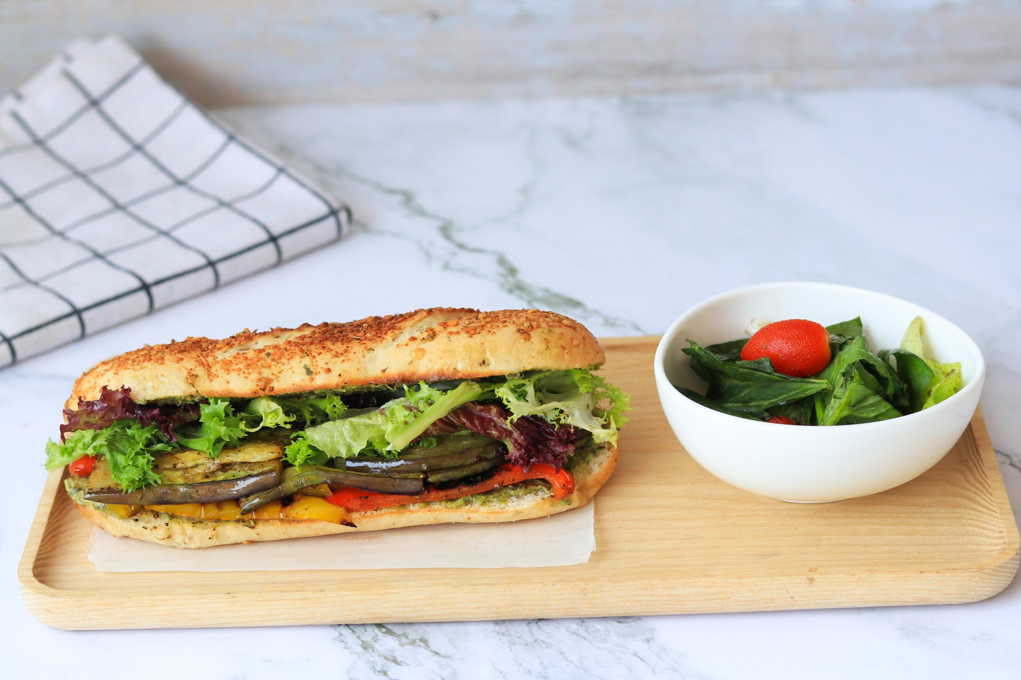 Roasted Veggie Pesto Sandwich